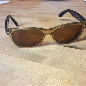 Ray-ban sunglasses yellow / gold and black Italy